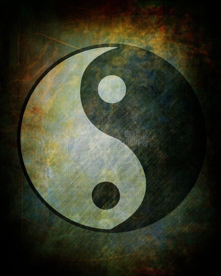 Yin yang symbol vektor illustrationer