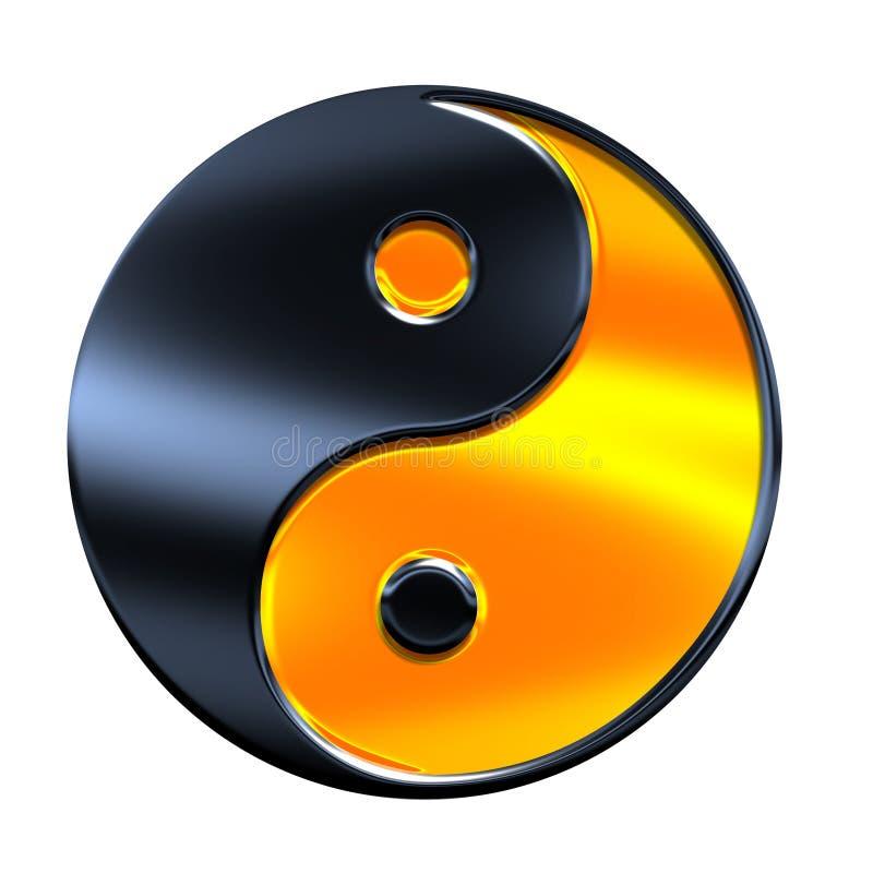 Yin-yang symbol royalty free illustration