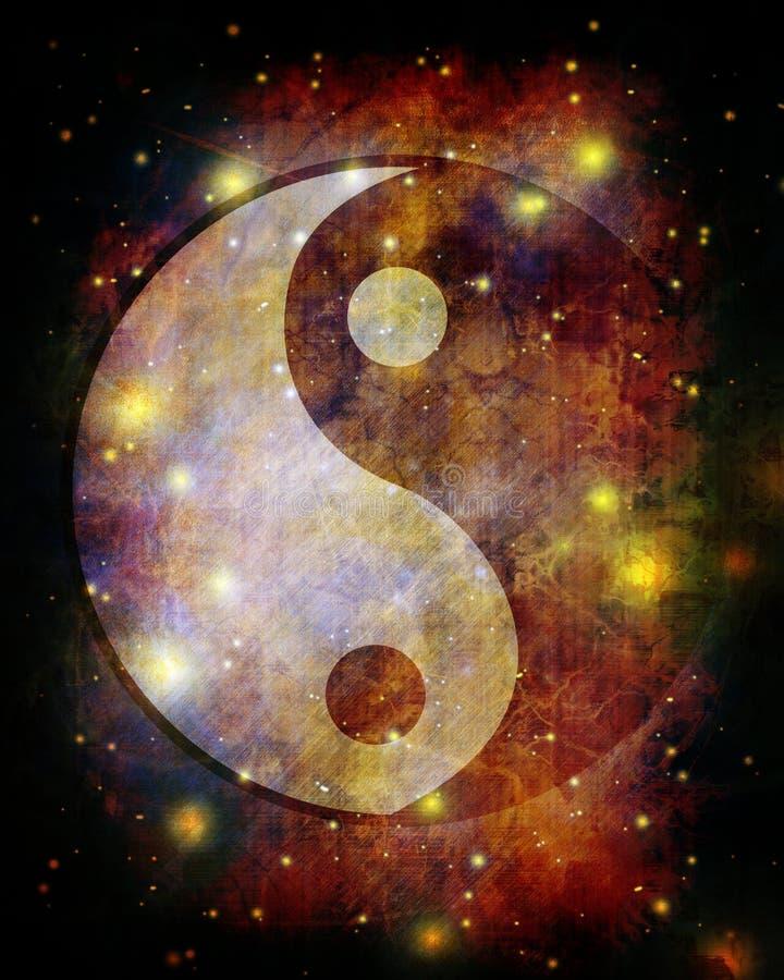 Yin yang symbol vector illustration