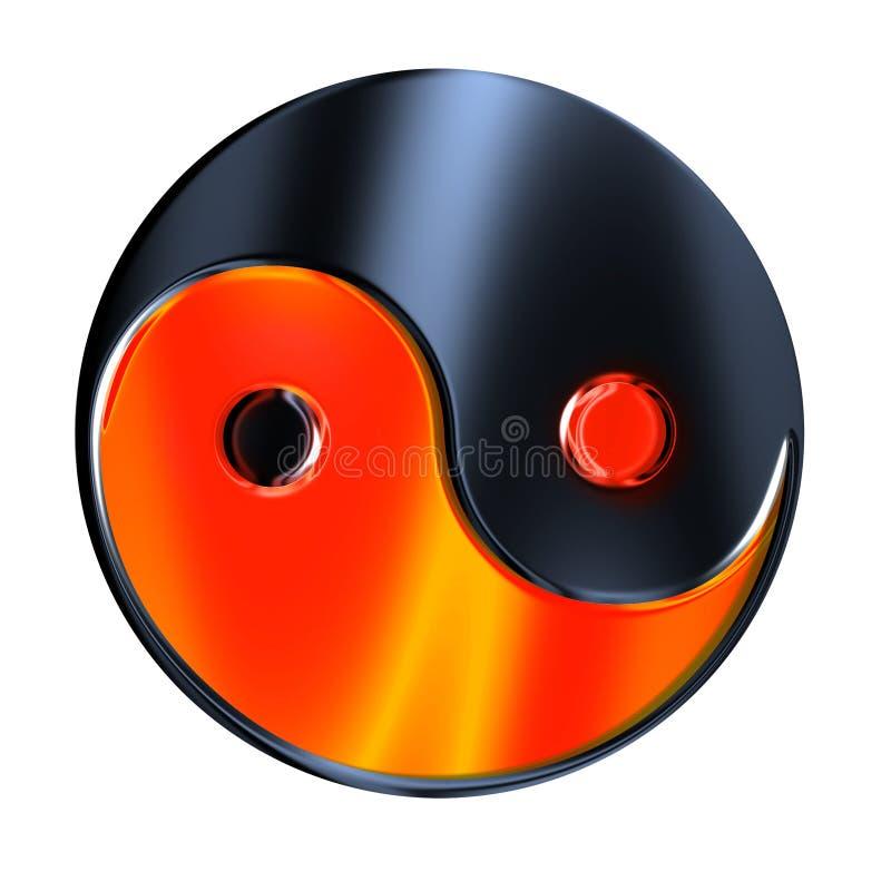 Yin-yang symbol. Yin - yang symbol isolated on white royalty free illustration