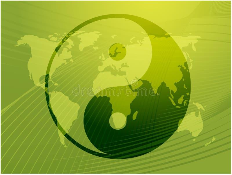 Yin Yang symbol. Oriental representation of duality stock illustration