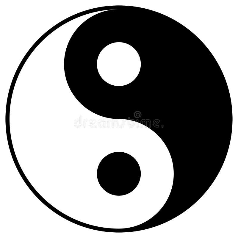 Yin Yang Symbol lizenzfreie abbildung