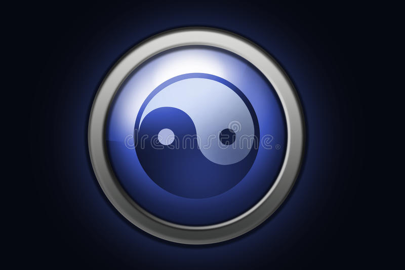 Download Yin yang symbol stock illustration. Illustration of background - 9859163