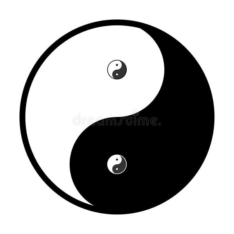 Yin and Yang. Yin yang, symbol of harmony and balance vector illustration