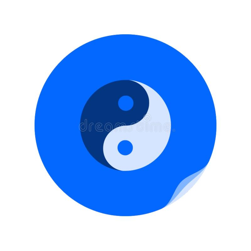 Yin and yang symbol,icon,. Best vector illustration