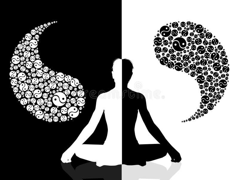 Yin yang symbol. Illustration of yin yang symbol vector illustration