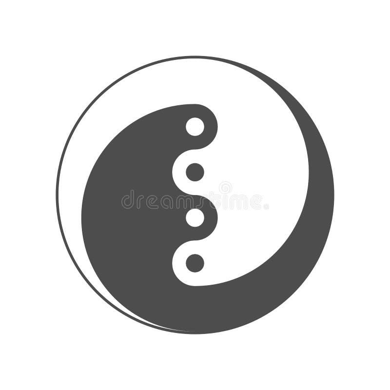 Yin Yang, symbol równowaga I harmonia wektor ilustracji