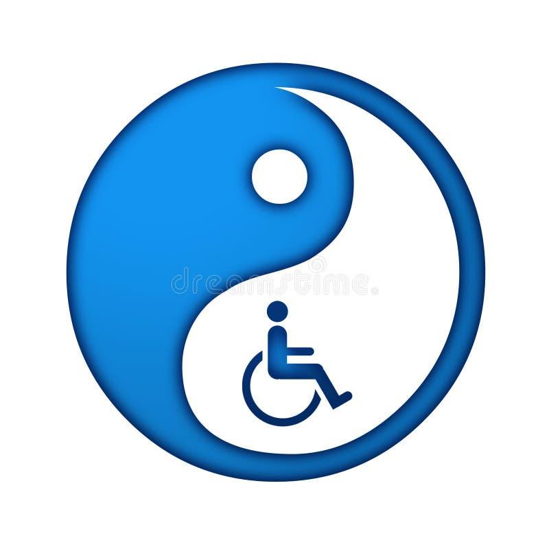 Yin Yang symbol reprezentuje orientalną medycynę royalty ilustracja