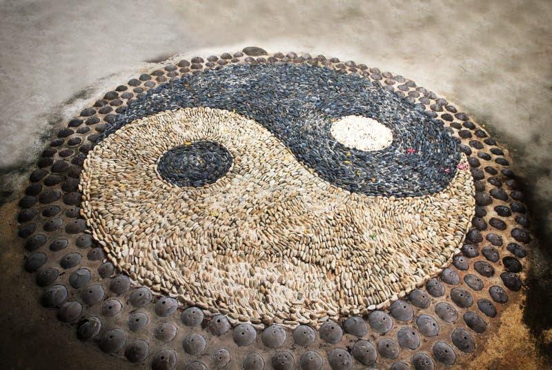 Yin Yang symbol. Yin Yang sign. Sort of symbolic stone stock photos