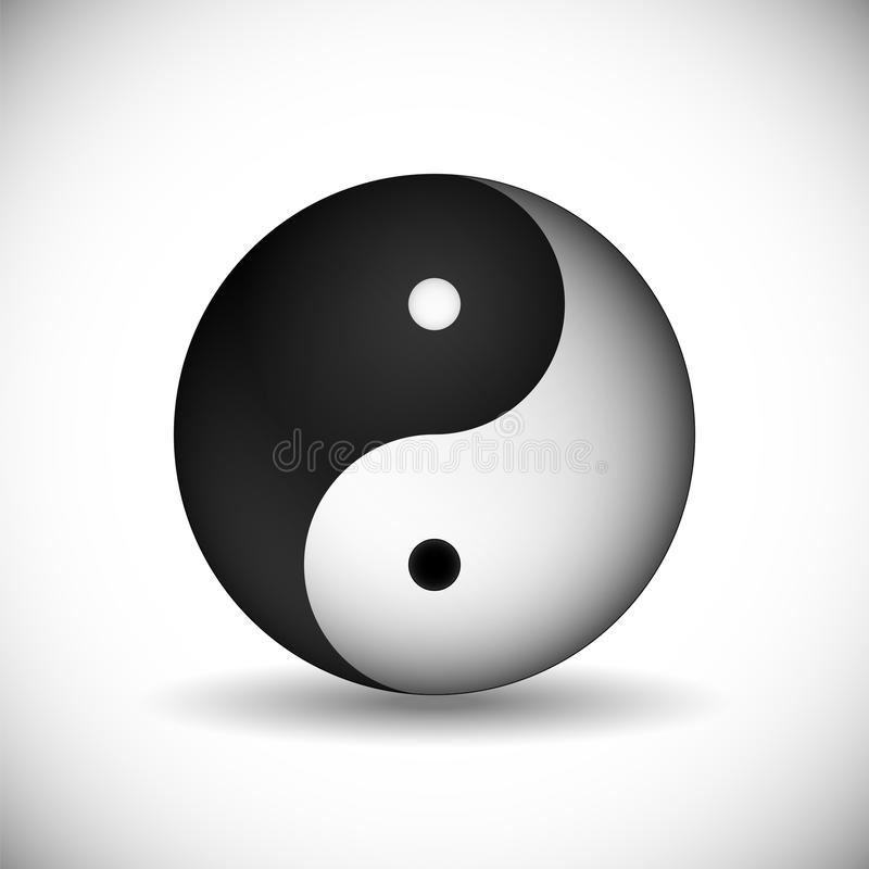 Yin And Yang Symbol Of The Unity And Harmony In Traditional Ch