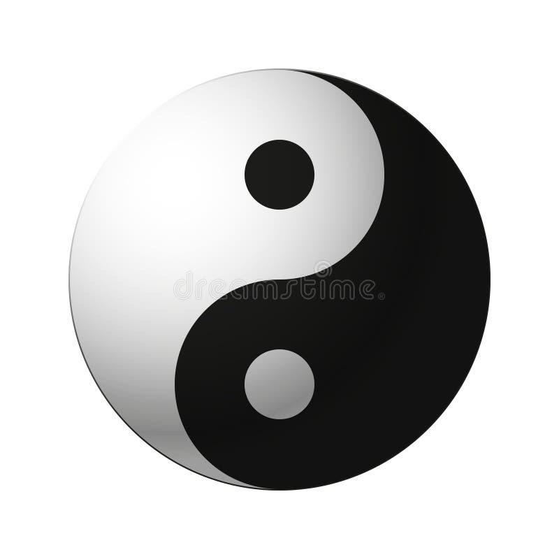Yin yang symbol. Vector yin and yang symbol royalty free illustration