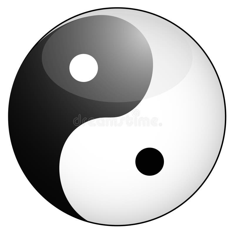 Yin yang symbool stock illustratie