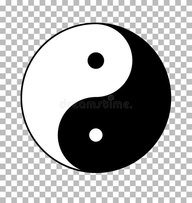 Yin yang on transparent background. yin yang sign. Flat style vector illustration
