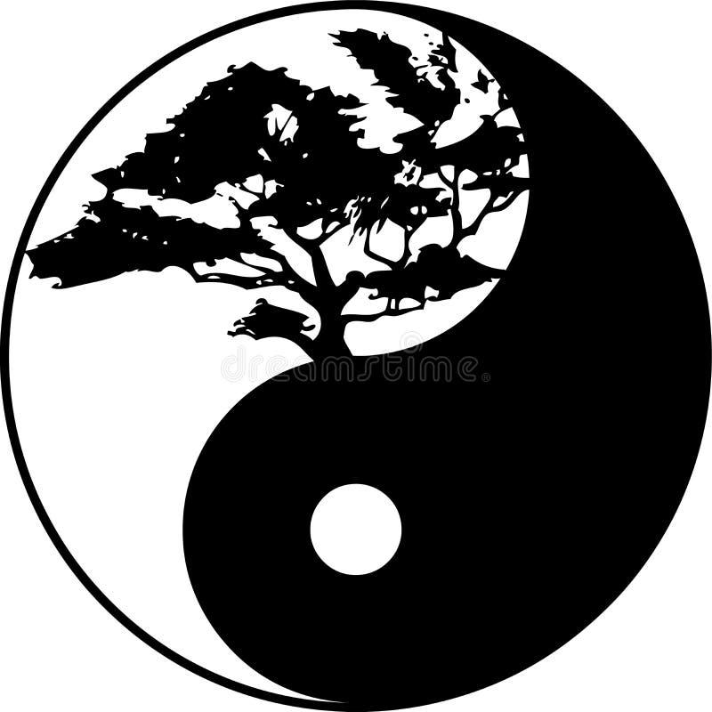 Yin yang tree stock image