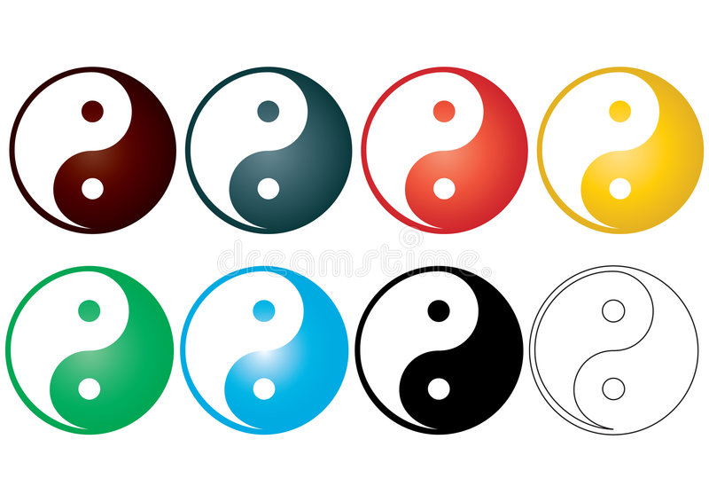 yin yang vector stock vector illustration of design 5630391 rh dreamstime com Yin Yang Symbol Designs Yin Yang Symbol Meaning