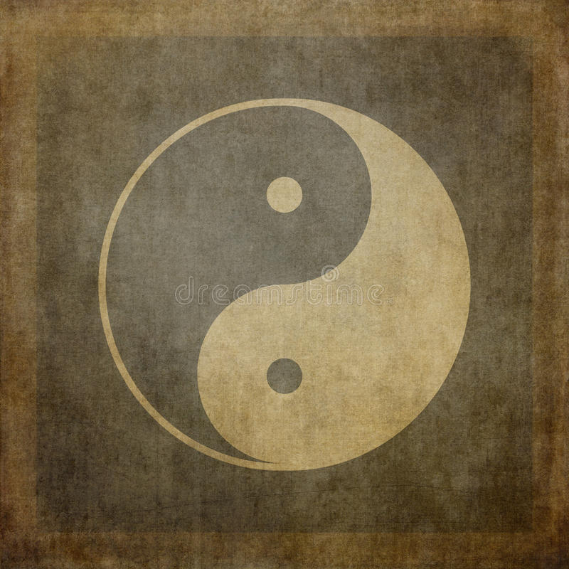 Yin yang wijnoogst royalty-vrije illustratie