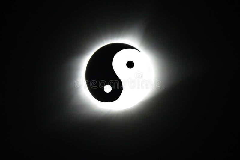 Yin Yang zaćmienie obraz stock