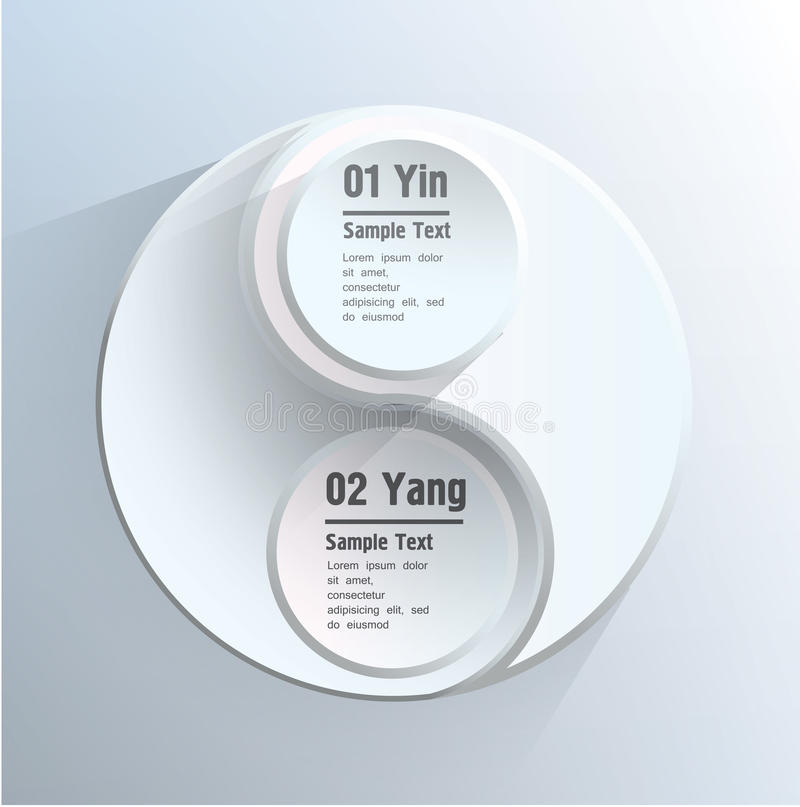 Yin Yang ilustracja wektor