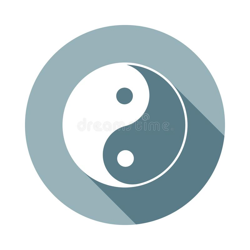 Yin Yangicon in Flat long shadow. One of web collection icon can be used for UI/UX. Yin Yangicon in Flat long shadow. One of web collection icon can be used for stock illustration