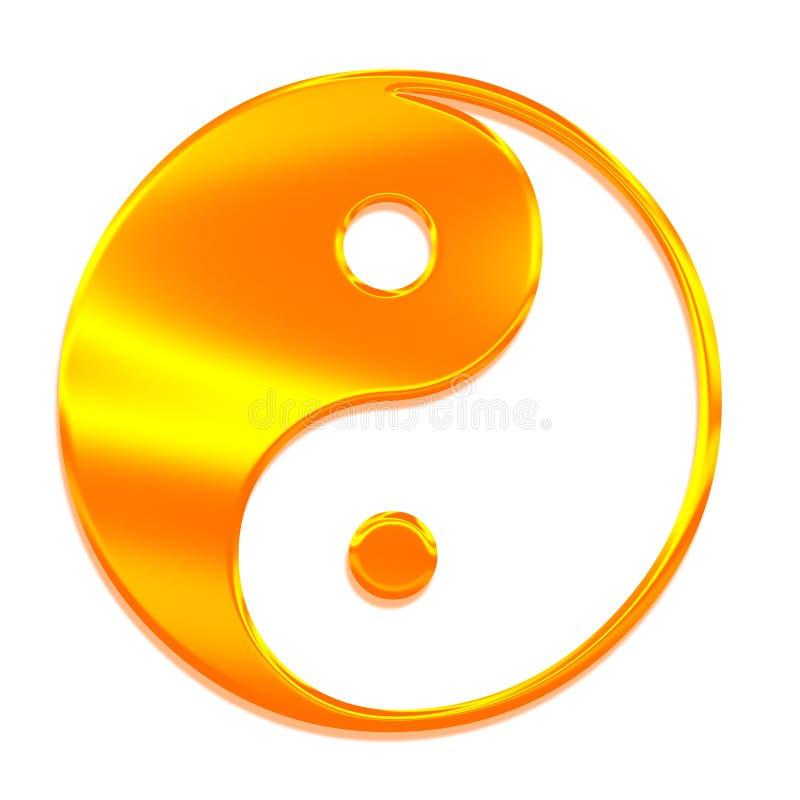 Yin -yin-yang (Tai Chi), het symbool van Grote Absolu vector illustratie