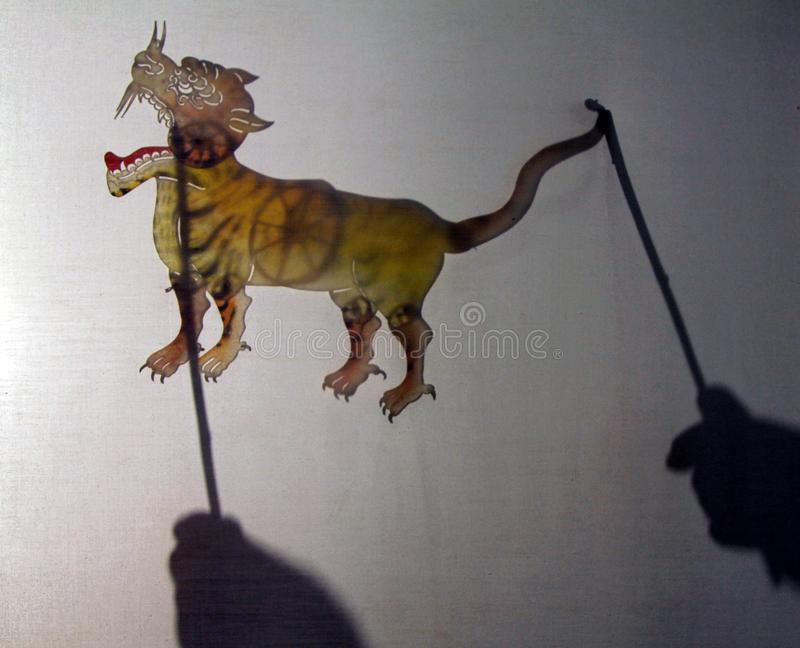 YINCHUAN, CHINA - Traditional chinese shadow puppet royalty free stock photos