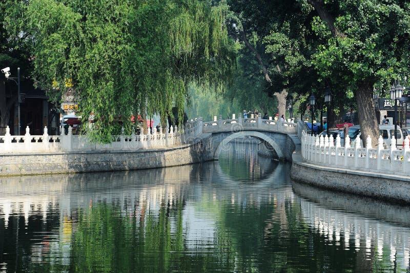 Yinding桥梁,后海,北京 库存图片
