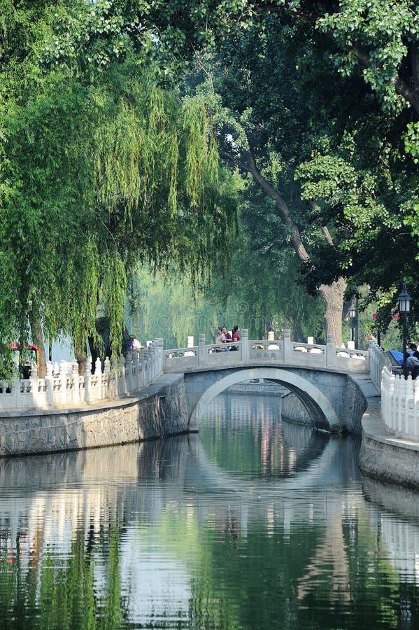 Yinding桥梁,后海,北京 库存照片