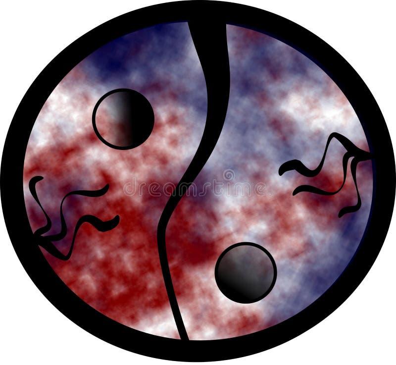 ying现代的杨 向量例证
