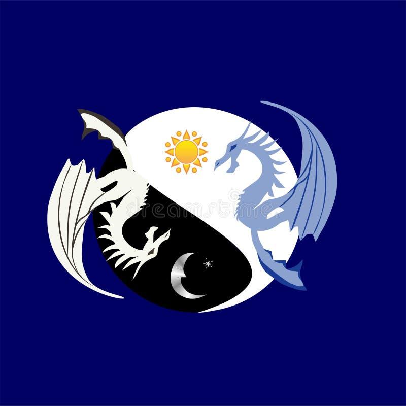Ying και Yang ελεύθερη απεικόνιση δικαιώματος