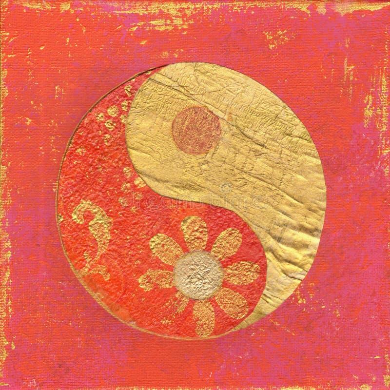 Ying e arte -final de yang imagem de stock