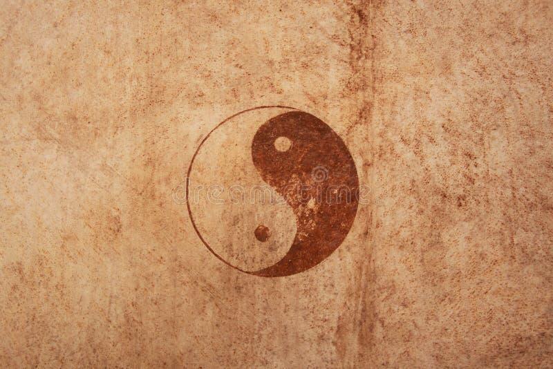 Ying e sinal de yang imagens de stock