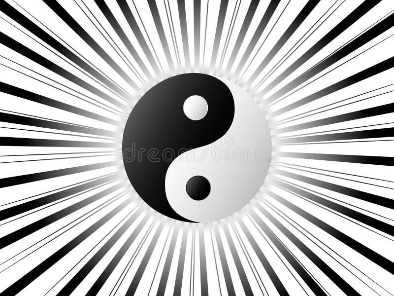 Ying y yang ilustración del vector