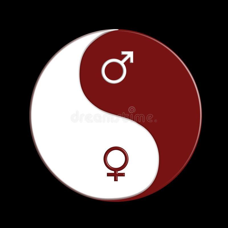 Download Ying-yang stock illustration. Image of feminine, conceptual - 12606722