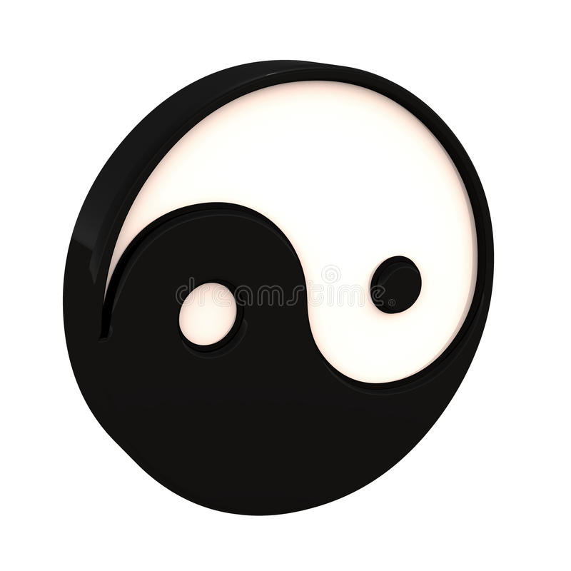 Ying yang stock illustration