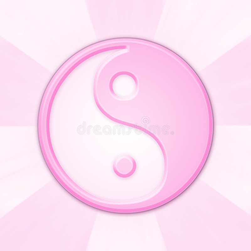 Ying and yang. As a symbol of infinity royalty free illustration