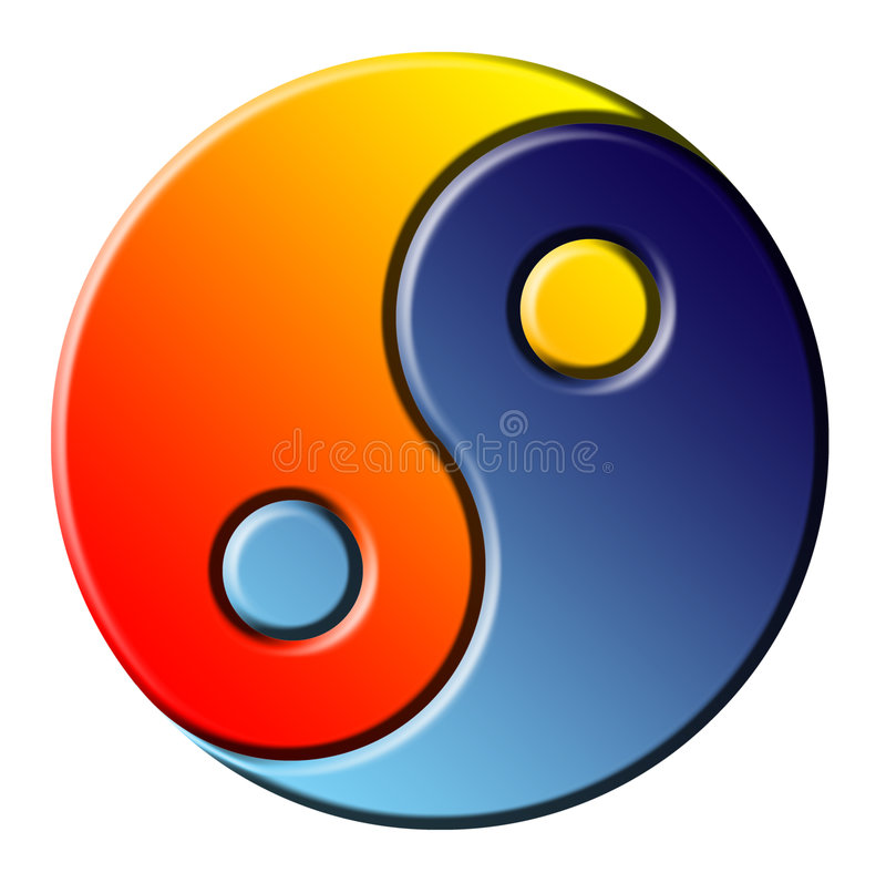 Ying Yang stock illustratie
