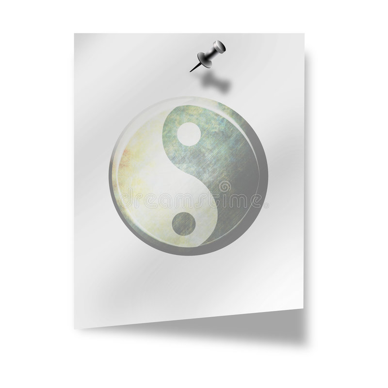 Ying yang vektor illustrationer