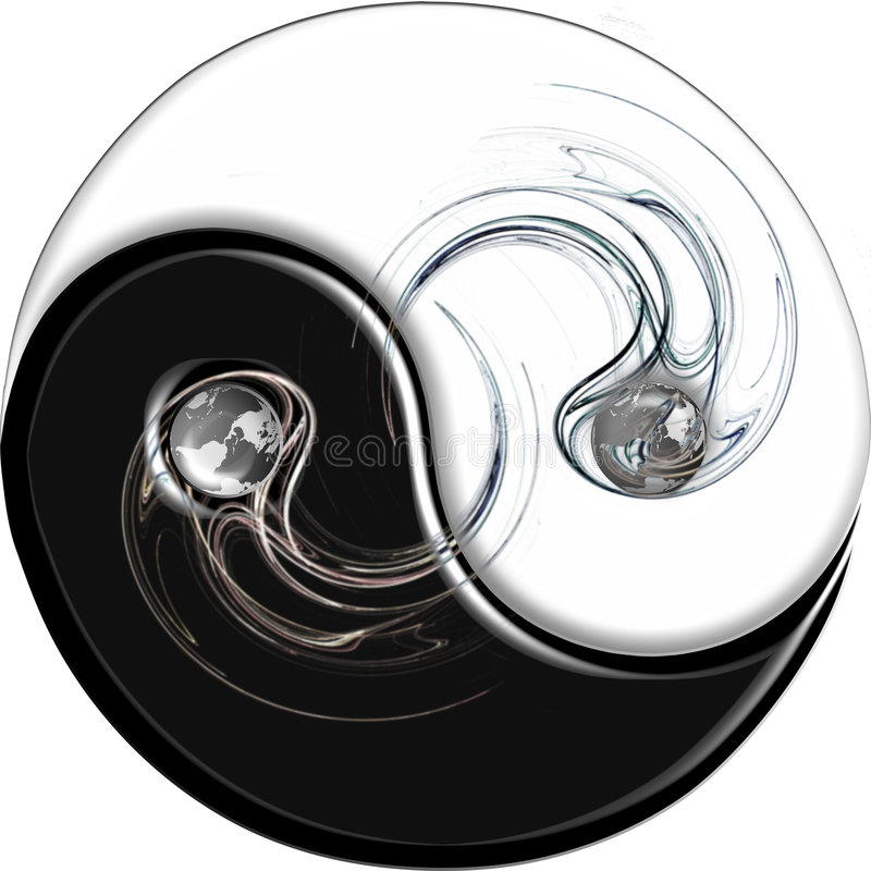 Ying Yang with Flame vector illustration