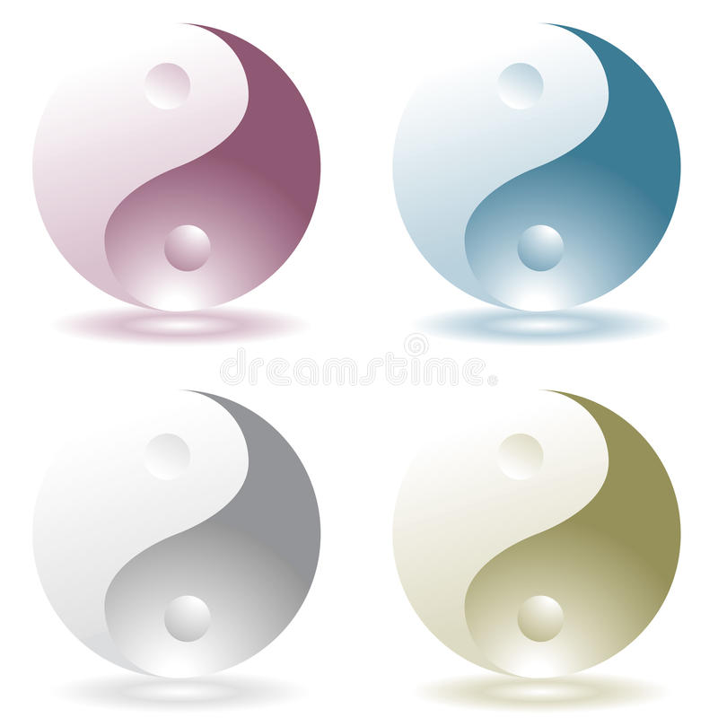 Ying yang four vector illustration