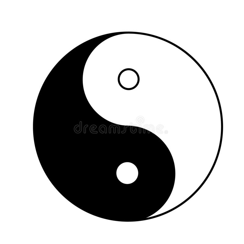 Ying yang icon on white background. flat style. Ying yang sign f royalty free illustration