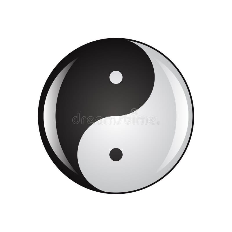 Ying Yang Ikone stock abbildung