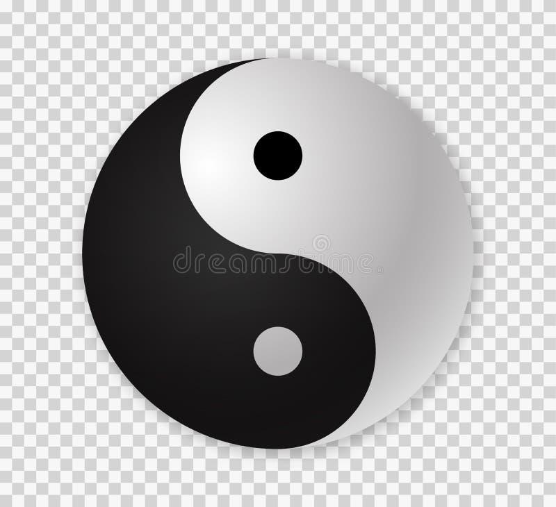 ying Yang ikony ilustracji
