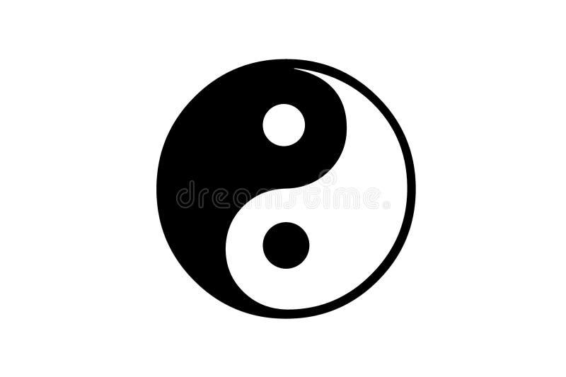 Ying yang. Image of ying-yang icon vector illustration