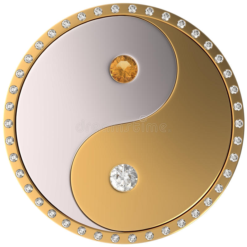 Ying Yang jewel sybmol vector illustration