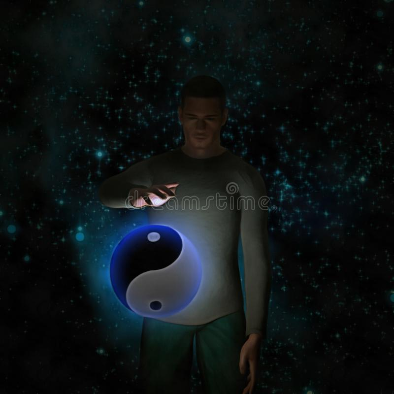 ying yang ilustracja wektor
