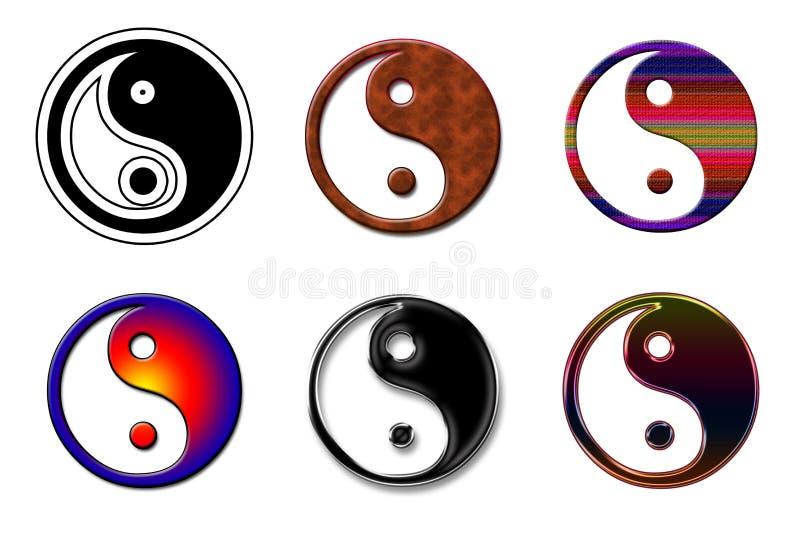 Ying yang Logo collage royalty free illustration