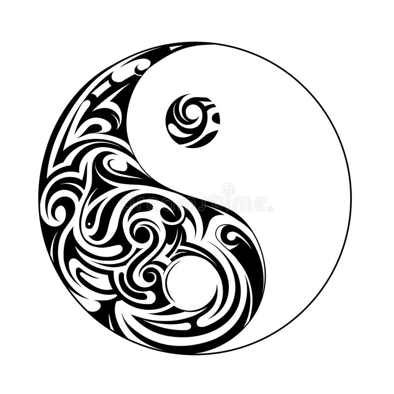 Free Ying Yang Shape Stock Images - 56952434