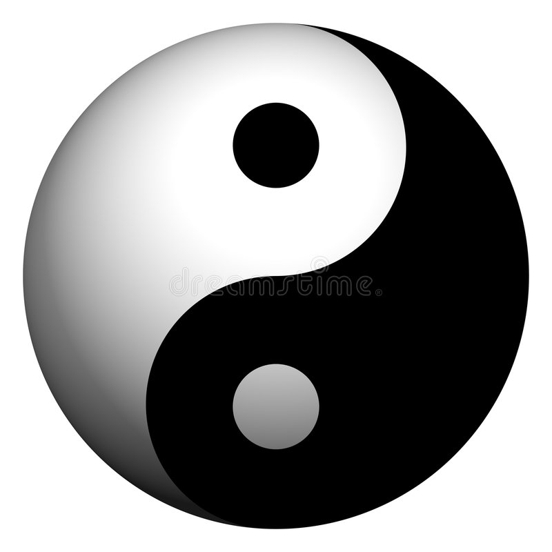 Ying Yang Sphere royalty free illustration