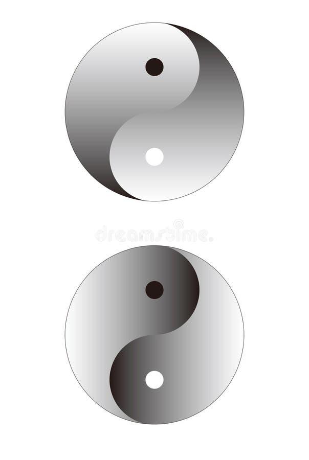 Ying Yang Sphere. Isolated on white stock illustration