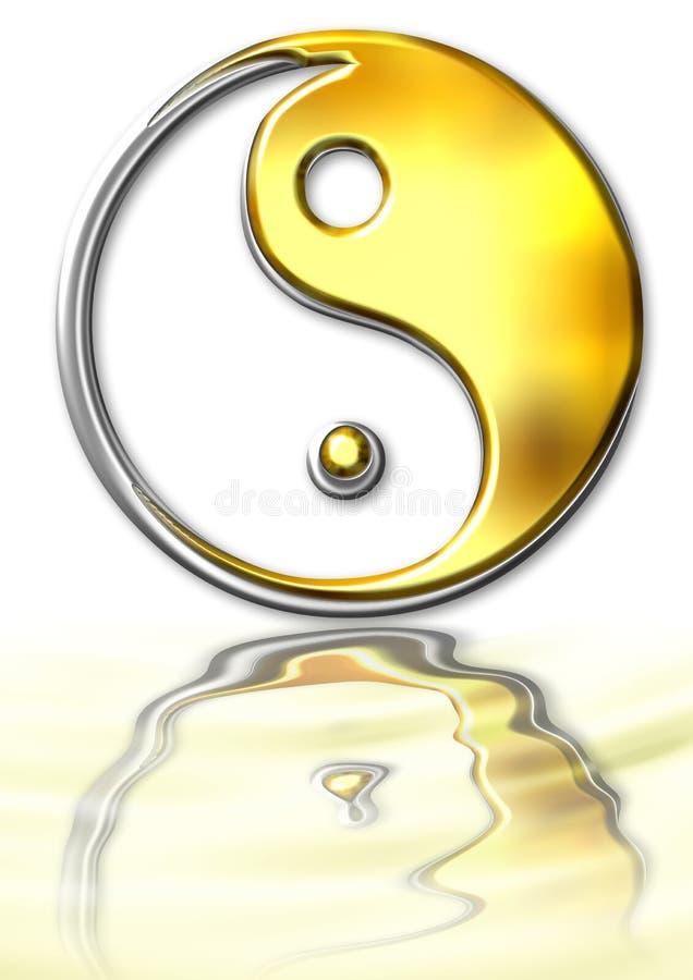 Ying-Yang-Symbol stock abbildung